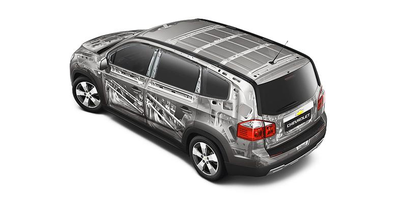 Chevrolet Orlando các trang bị an toàn
