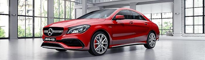 Mercedes CLA màu đỏ jupiter