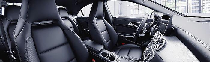 Mercedes CLA nội thất da màu đen