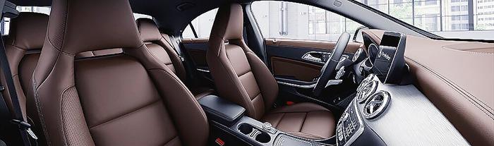 Mercedes CLA nội thất da màu nâu