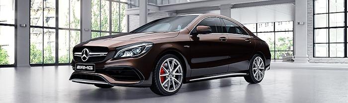 Mercedes CLA màu nâu Orient