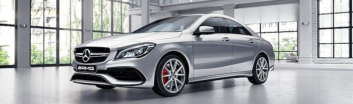 Mercedes CLA màu bạc