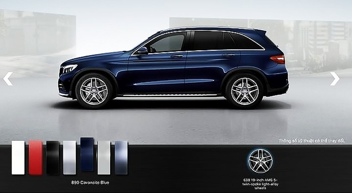 Mercedes GLC 300 4MATIC 2017 màu xanh cavansite