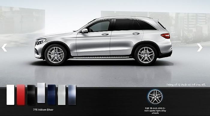 Mercedes GLC 300 4MATIC 2017 màu bạc iridium