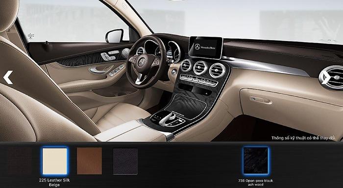 Nội thất màu Vàng Mercedes GLC 300 4MATIC 2017