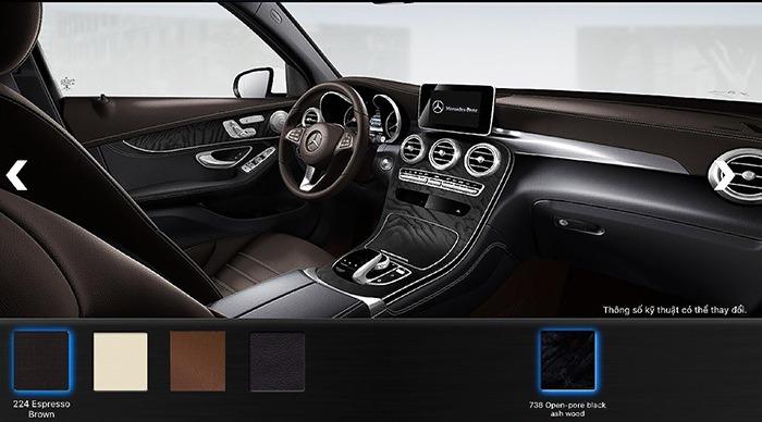 Nội thất màu Nâu Espresso Mercedes GLC 300 4MATIC 2017