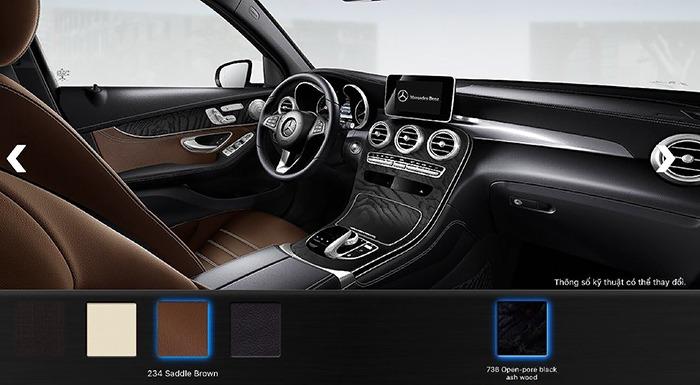 Nội thất màu nâu Mercedes GLC 300 4MATIC 2017Nội thất màu Mercedes GLC 300 4MATIC 2017
