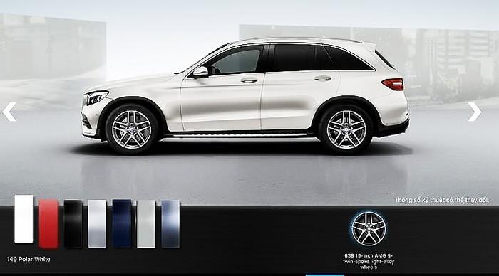 Mercedes GLC 300 4MATIC 2017 màu trắng