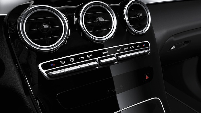 Hệ thống điều hòa không khí của xe Mercedes GLC 250 4MATIC