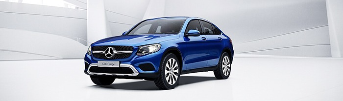 Mercedes GLC 300 coupe màu xanh brillian