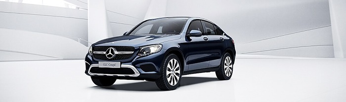Mercedes GLC 300 coupe màu xanh cavansite