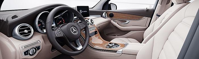 Nội thất Mercedes GLC 300 màu vàng beige