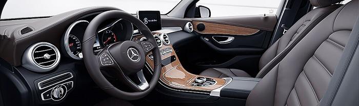 Nội thất Mercedes GLC 300 màu nâu espresso