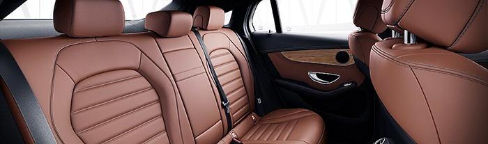 Nội thất Mercedes GLC 300 màu nâu saddle