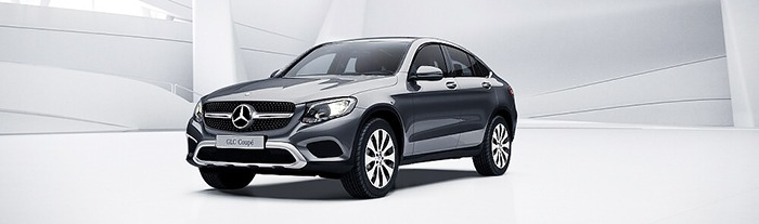 Mercedes GLC 300 coupe màu xám selenite