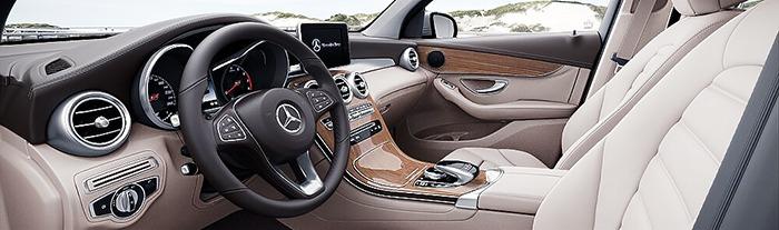 Nội thất xe Mercedes GLC 250 4MATIC vàng beige