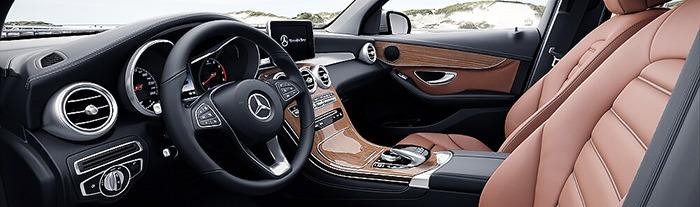 Nội thất Mercedes GLC 250 4MATIC nâu saddle