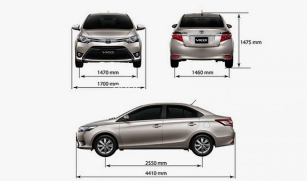Kích thước ô tô - Các thông số kỹ thuật trên ô tô phần 2