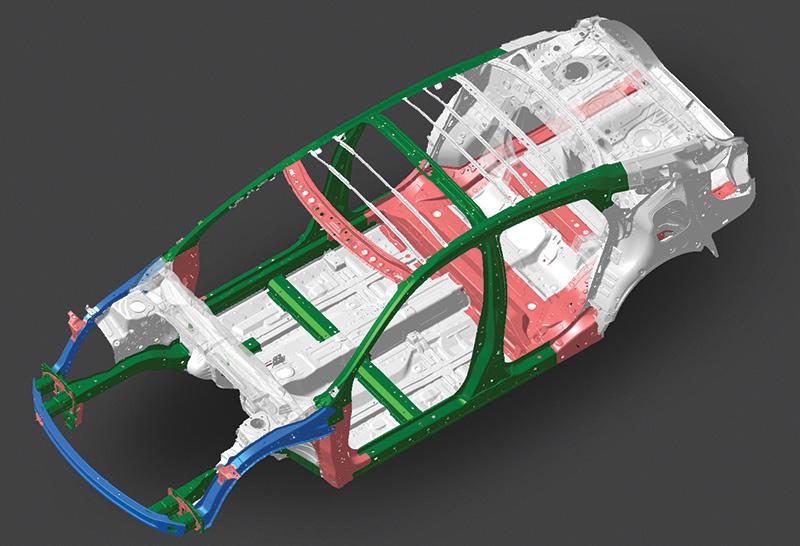Kết quả hình ảnh cho khung xe hấp thụ lực G con honda civic