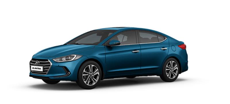 Hyundai Elantra mau xanh