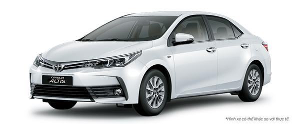 Toyota Altis màu trắng