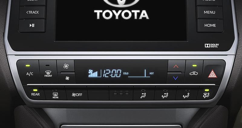 Hệ thống điều hòa tự động Toyota Land Cruiser 2018