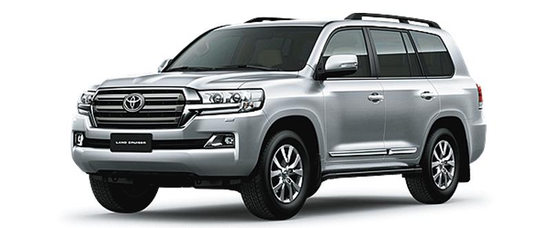 Toyota Land Cruiser màu bạc