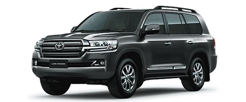 Toyota Land Cruiser màu xám