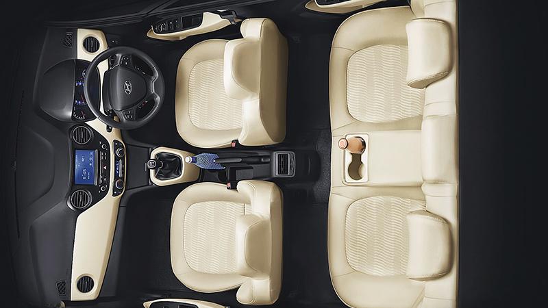 Không gian nội thất Grand I10 Sedan 2018