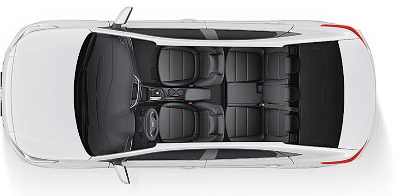Khoang nội thất Hyundai Accent 2018