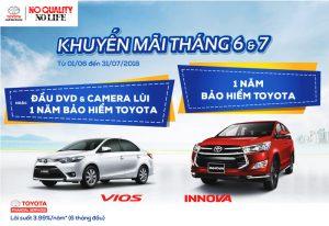 Toyota Khuyến mãi tháng 6 - 7/2018