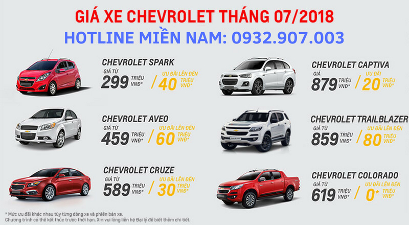 Giá xe Chevrolet tháng 7 giảm mạnh
