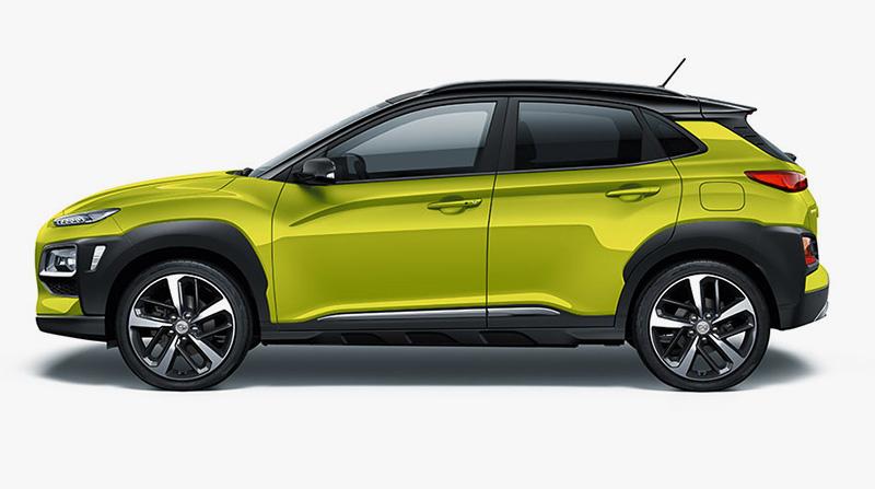 Thiết kế thân xe Hyundai Kona