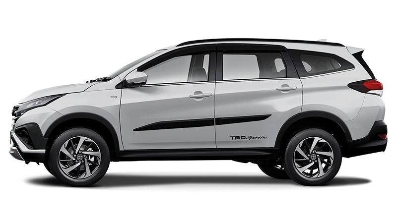 Thân xe với những điểm nhấn làm tăng tính thể thao, năng động - Toyota Rush