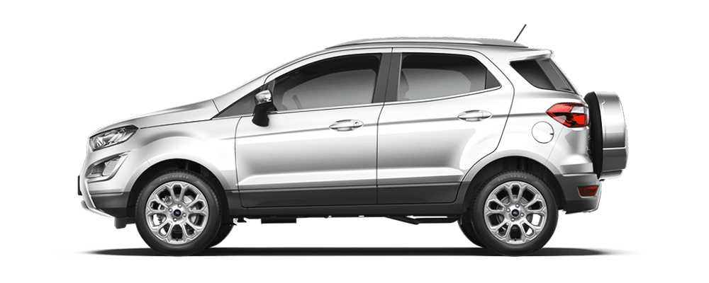 Ford Ecosport màu bạc ánh kim