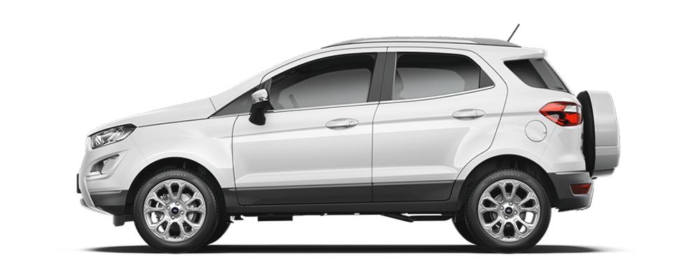 Ford Ecosport trắng kim cương