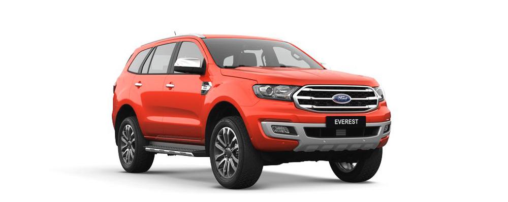 Ford Everest màu đỏ