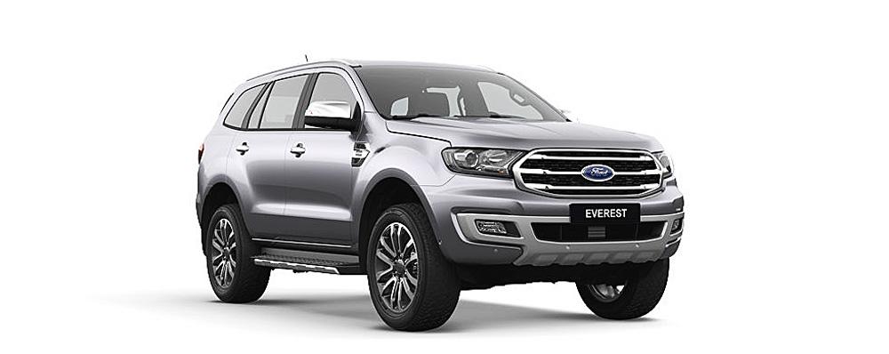 Ford Everest màu bạc