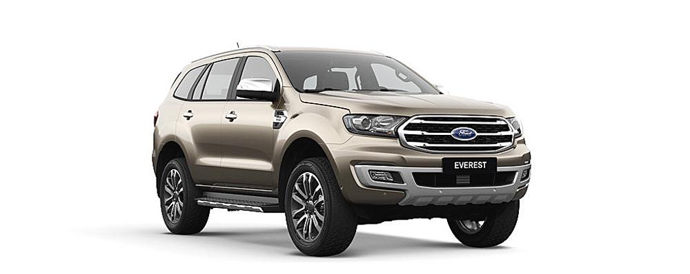 Ford Everest màu vàng