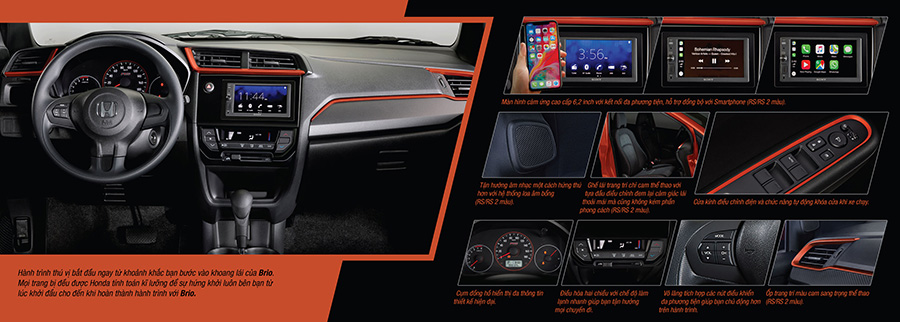 Honda Brio Nội Thất