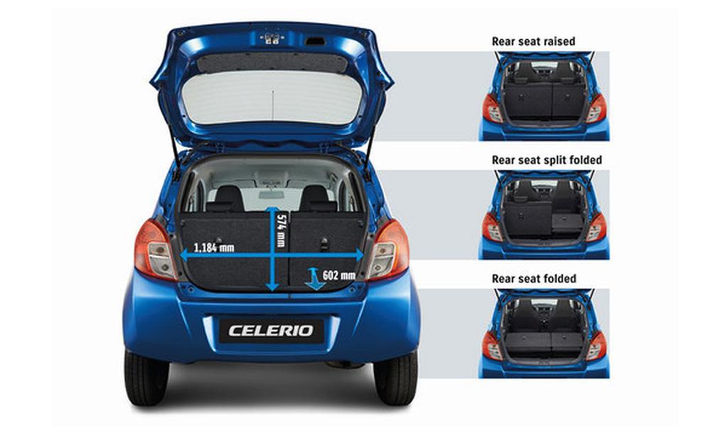 Suzuki Celerio - Khoang hành lý