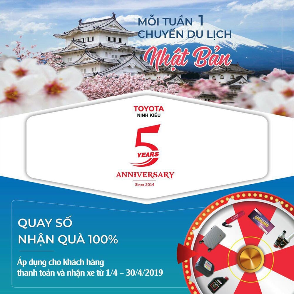 Cơ hội du lịch Nhật Bản cùng Toyota Ninh Kiều