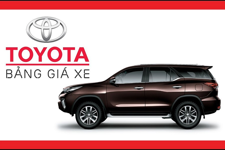 Bảng giá xe Toyota Ninh Kiều - Cần Thơ