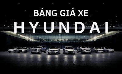 Bảng giá xe Hyundai Cần Thơ 2019