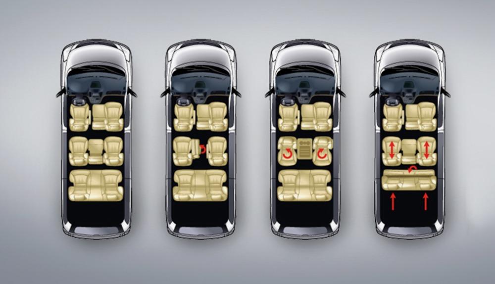 Hyundai Starex ghế ngồi điều chỉnh linh hoạt
