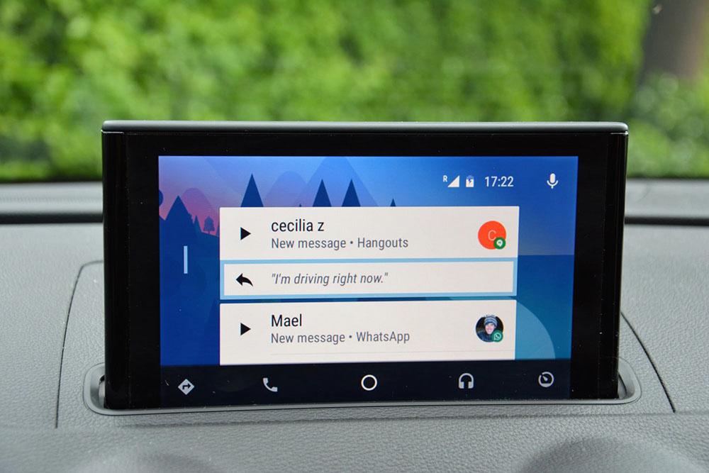 phần mềm tiện ích trên ô tô - android auto