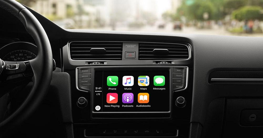 phần mềm tiện ích trên ô tô - apple carplay