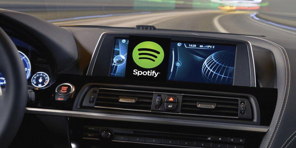 phần mềm tiện ích trên ô tô - spotify music