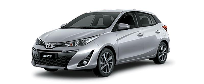 Toyota Yaris màu bạc