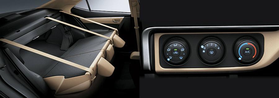 Hệ thống điều hòa & Hàng ghế thứ 2 của Corolla Altis